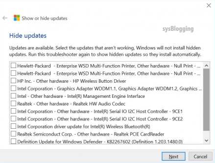 WIndows 10 update hide screen 4