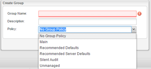 Web Console groups