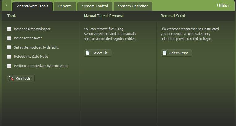 Webroot AntiMalware Tools