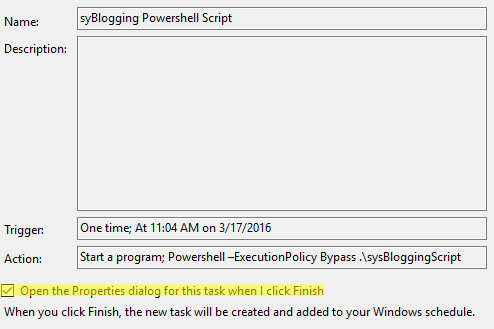 How to: Use Task Scheduler to run Powershell Scripts